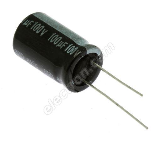 Electrolytic Radial E 100uF/100V 13x21 RM5 85°C Jamicon SKR101M2AJ21M