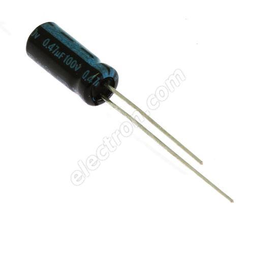 Electrolytic Radial E 0.47uF/100V 5x11 RM2 105°C Jamicon TKRR47M2AD11M
