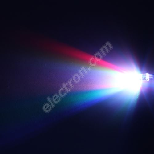 LED 5mm RGB 435/1080/390mcd/ 85~100° Water Clear Lens Common Cathode Hebei 599R2GBC-CC