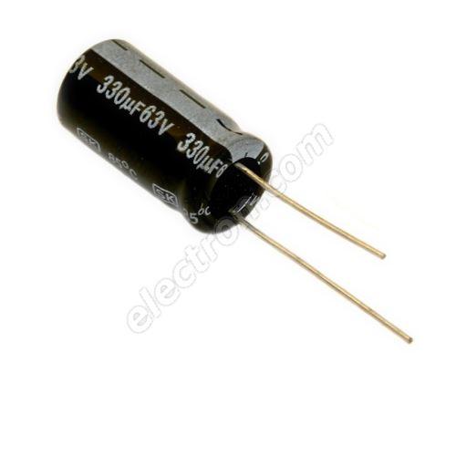 Electrolytic Radial E 330uF/63V 10x21 RM5 85°C Jamicon SKR331M1JG21M