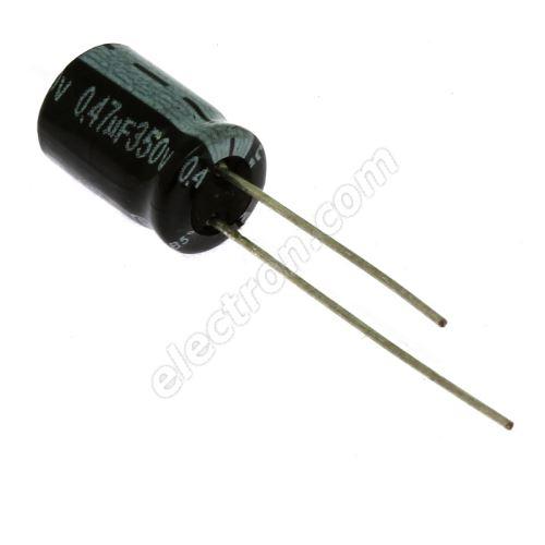 Electrolytic Radial E 0.47uF/350V 8x11 RM3.5 85°C Jamicon SKRR47M2VF11VH