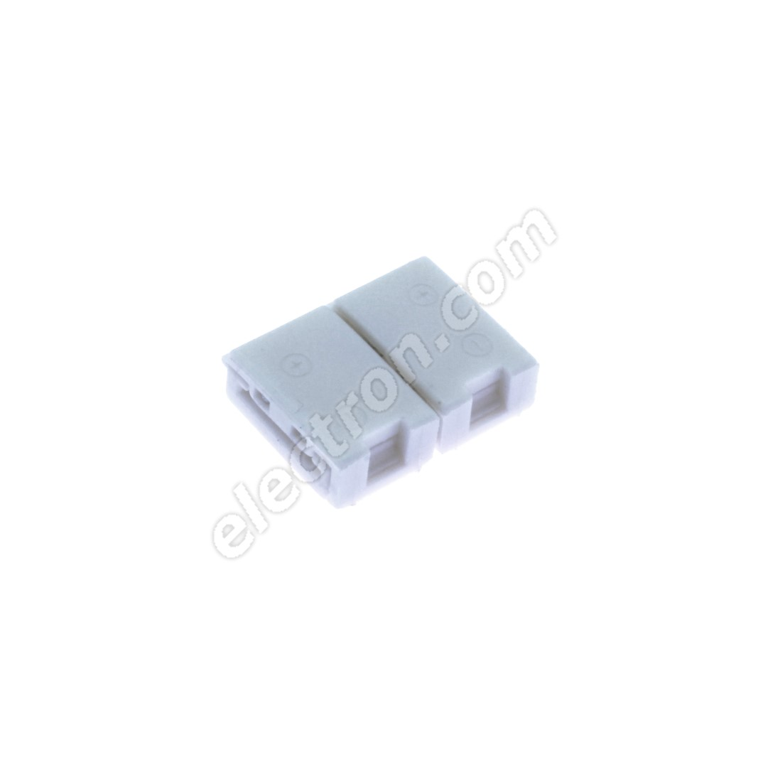 8mm 2pin Solderless Clip-on Connector for 3528 LED Strip Single Color