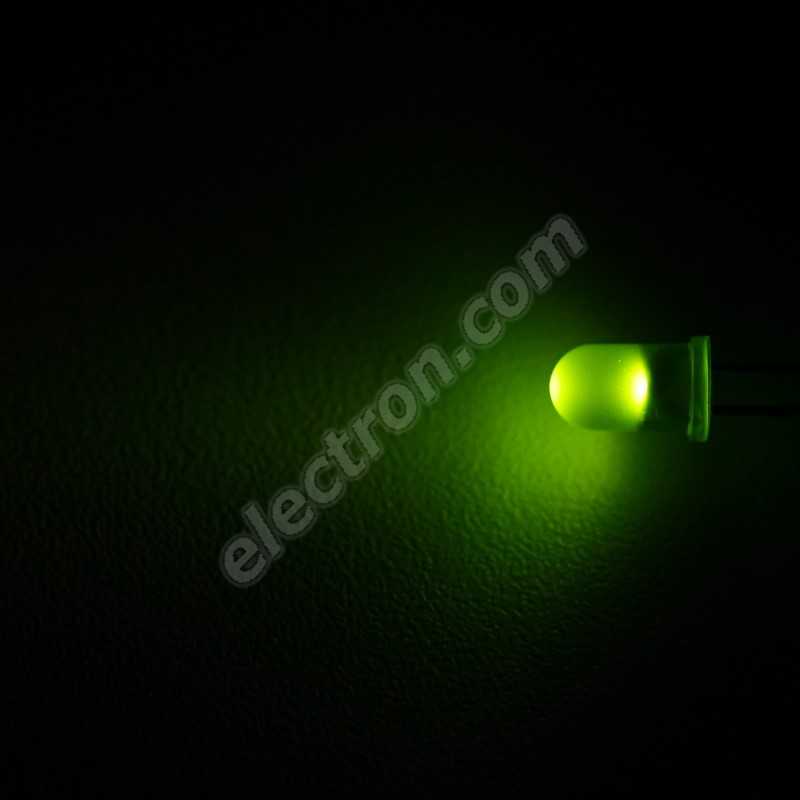 LED 5mm Green Color 100mcd/30° Diffused Lens Wenrun LAG50330