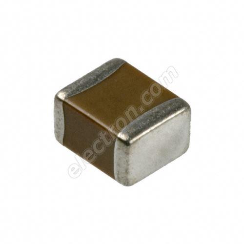 Multilayer Ceramic Capacitor C1206 10nF X7R 50V +/-10% Yageo CC1206KRX7R9BB103