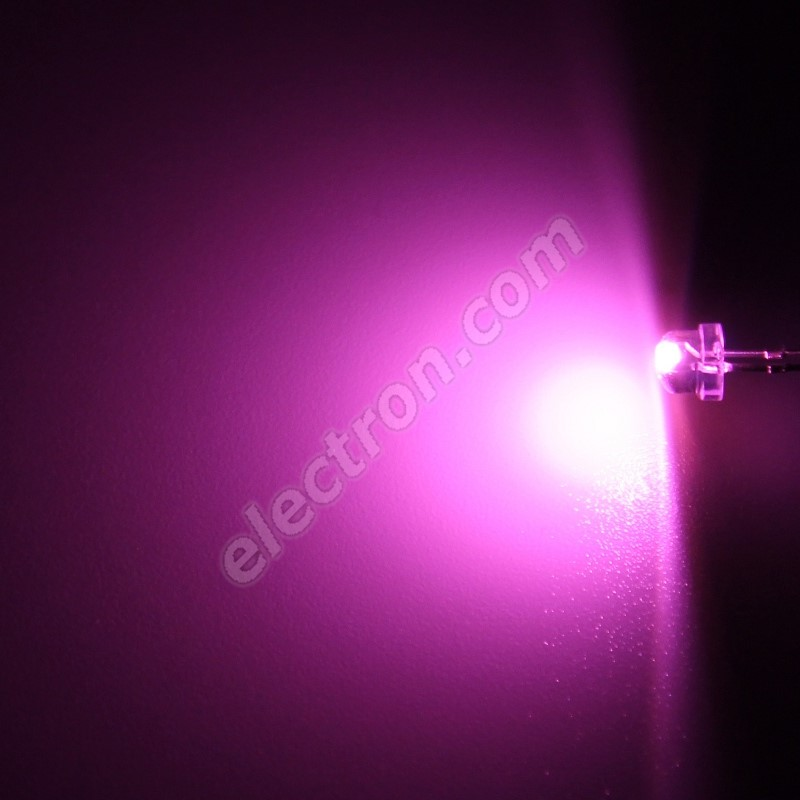 LED 4.8mm Pink Color 550mcd/170° Water Clear Lens Hebei 412JPKC
