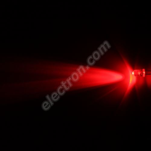 LED 5mm Red Color 4000mcd/23° Water Clear Lens Hebei 520MR2C