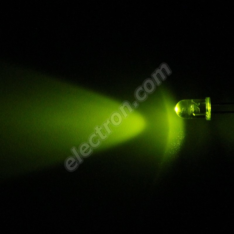 LED 5mm Green Color 800mcd/30° Water Clear Lens Hebei 530AG7C