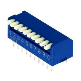 DIP switch Kaifeng KF1002-10PG-BLUE