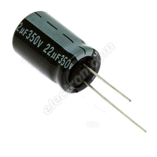 Electrolytic Radial E 22uF/350V 13x21 RM5 85°C Jamicon SKR220M2VJ21M