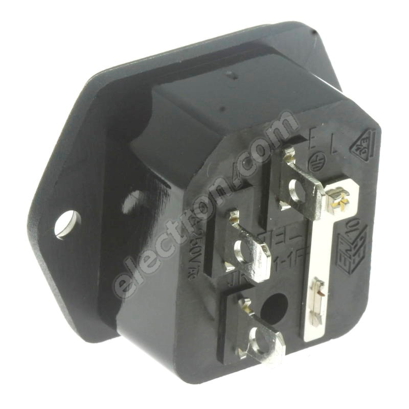 IEC Male Power Insert Connector with Fuse Holder GSI-2
