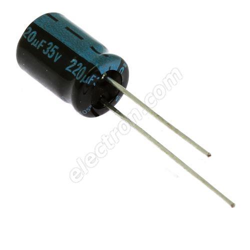 Electrolytic Radial E 220uF/35V 8x11.5 RM3.5 105°C Jamicon TKR221M1VFBBM