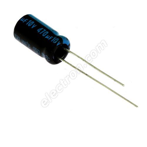 Electrolytic Radial E 470uF/10V 6.3x11 RM2.5 105°C Jamicon TKR471M1AE11M