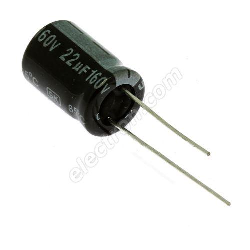 Electrolytic Radial E 22uF/160V 10x16 RM5 85° Jamicon SKR220M2CG16M