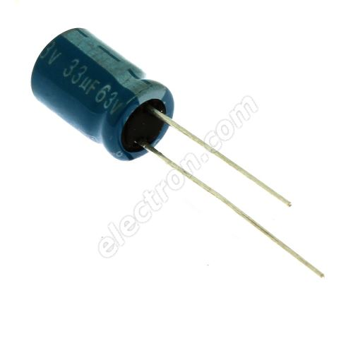 Electrolytic Radial E 33uF/63V 8x11 RM3.5 105°C Jamicon TMR330M1JF11M