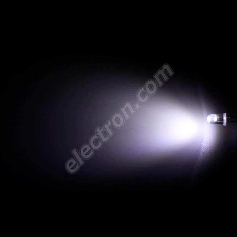 LED 5mm Cool White Color 3000mcd/65° Water Clear Lens Hebei 560VW6C