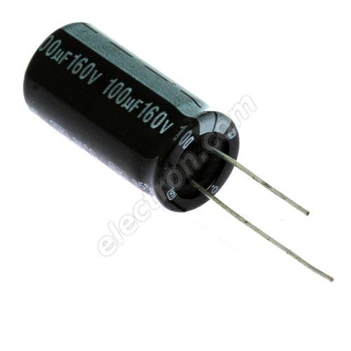 Electrolytic Radial E 100uF/160V 12.5x25 RM5 85°C Jamicon SKR101M2CJ26M