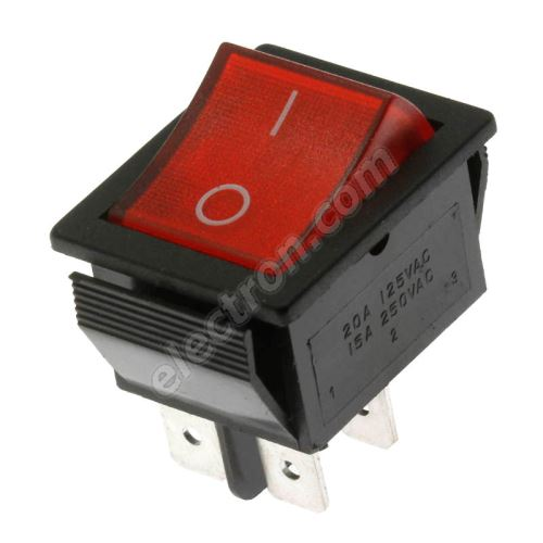 Rocker Switch Jietong MIRS-101-C3-R/B