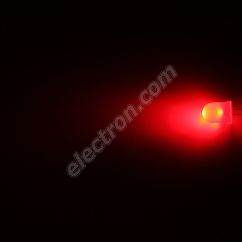 LED 10mm Red Color 600mcd/50° Diffused Lens Hebei 105XR2D