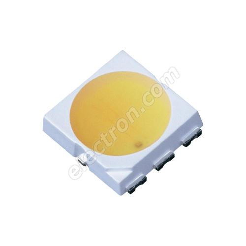 LED SMD PLCC6 Cool White Color 300mcd/120° 3 chips Hebei PLCC6MW6C-3C