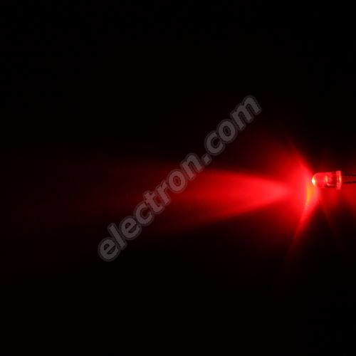 LED 5mm Red Color 4000mcd/30° Water Clear Lens Hebei 530MR2C