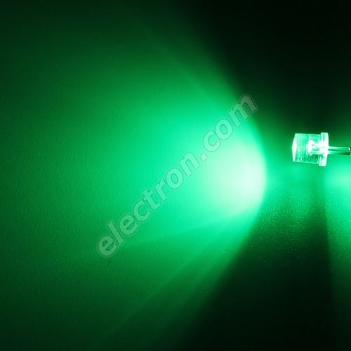 LED 5mm Green Color 3000mcd/100° Water Clear Lens Hebei 599PG2C