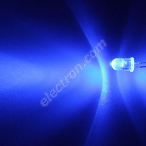 LED 5mm Blue Color 8200mcd/13° Water Clear Lens Hebei 510LB7C