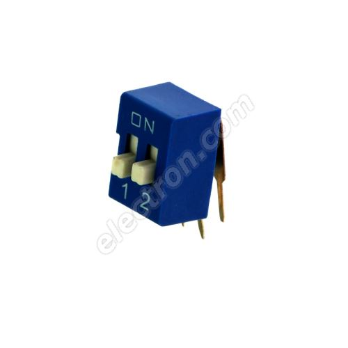 DIP switch Kaifeng KF1003-02PG-BLUE