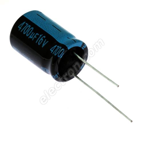 Electrolytic Radial E 4700uF/16V 16x25 RM7.5 105°C Jamicon TKR472M1CK25M