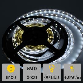 Non-Waterproof LED Strip 3528 Natural White - STRF 3528-60-NW - 1 meter length