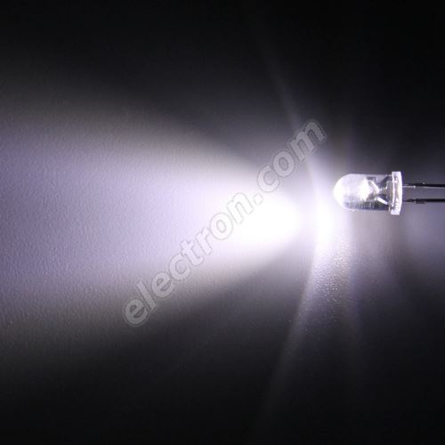 LED 5mm Cool White Color 8000mcd/50° Water Clear Lens Hebei 550PWC