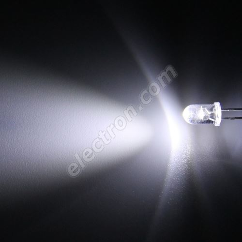 LED 5mm Cool White Color 10000mcd/30° Water Clear Lens Hebei 530PWC