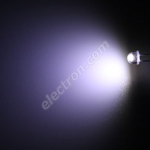 LED 4.8mm Cool White Color 1520mcd/90° Water Clear Lens Hebei 470PWC