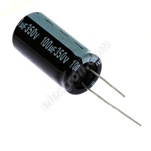 Electrolytic Radial E 100uF/350V 18x35 RM7.5 85°C Jamicon SKR101M2VL35M