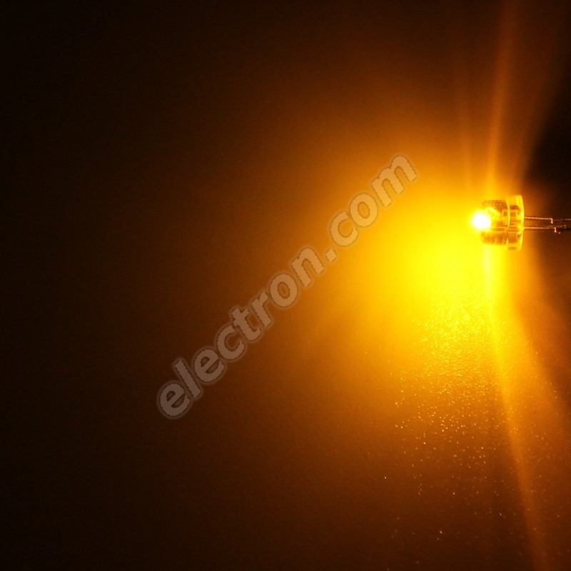 LED 4.8mm Yellow (Amber) Color 280mcd/170° Water Clear Lens Hebei 412PY9C
