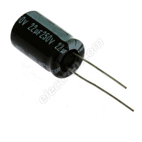 Electrolytic Radial E 22uF/250V 13x20 RM5 85°C Jamicon SKR220M2EI20M