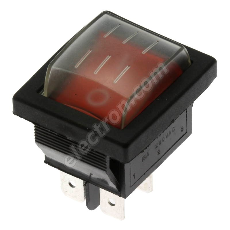 Rocker Switch Jietong IRS-201-1C3-R/B +WPC-08
