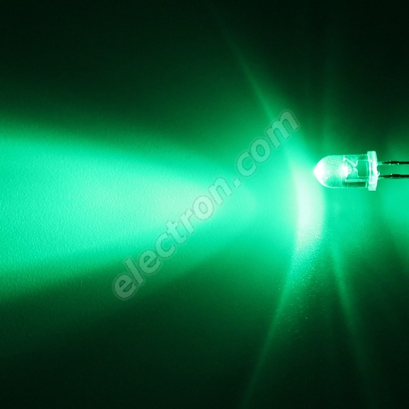 LED 5mm Green Color 6000mcd/30° Water Clear Lens Hebei 530VG0C