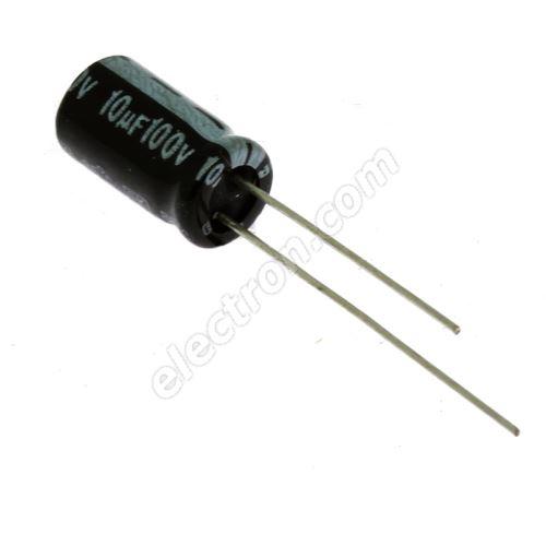 Electrolytic Radial E 10uF/100V 6.3x11 RM2.5 85°C Jamicon SKR100M2AE11M