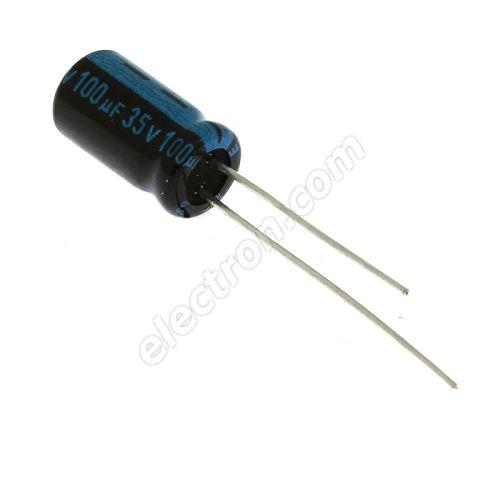 Electrolytic Radial E 100uF/35V 6.3x11 RM2.5 105°C Jamicon TKR101M1VE11M