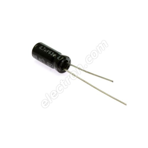 Electrolytic Radial E 4.7uF/63V 5x11 RM2 85°C Jamicon SKR4R7M1JD11M
