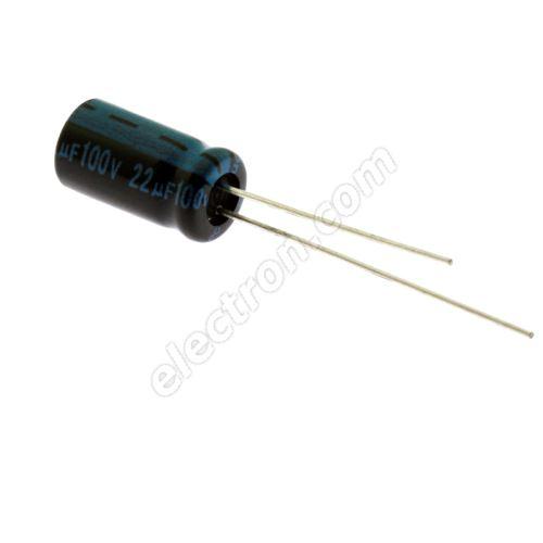 Electrolytic Radial E 22uF/100V 6.3x11 RM2.5 105°C Jamicon TKR220M2AE11M
