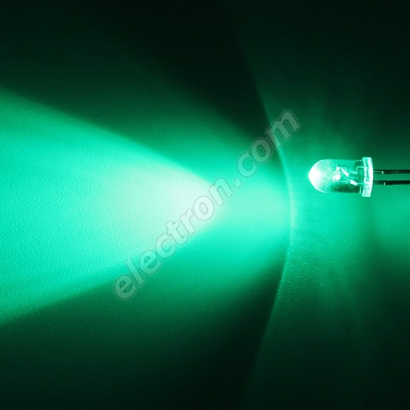 LED 5mm Green Color 12000mcd/40° Water Clear Lens Hebei 540PG0C