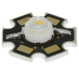 LED STAR 1W Yellow (Amber) Color 50lm/120° Batwing Hebei S12LY9C-B