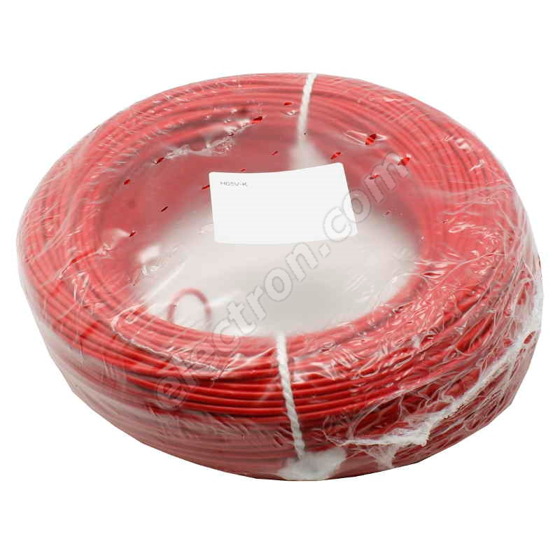 PVC Insulated Stranded Wire H07V-K 1x1.5mm Red