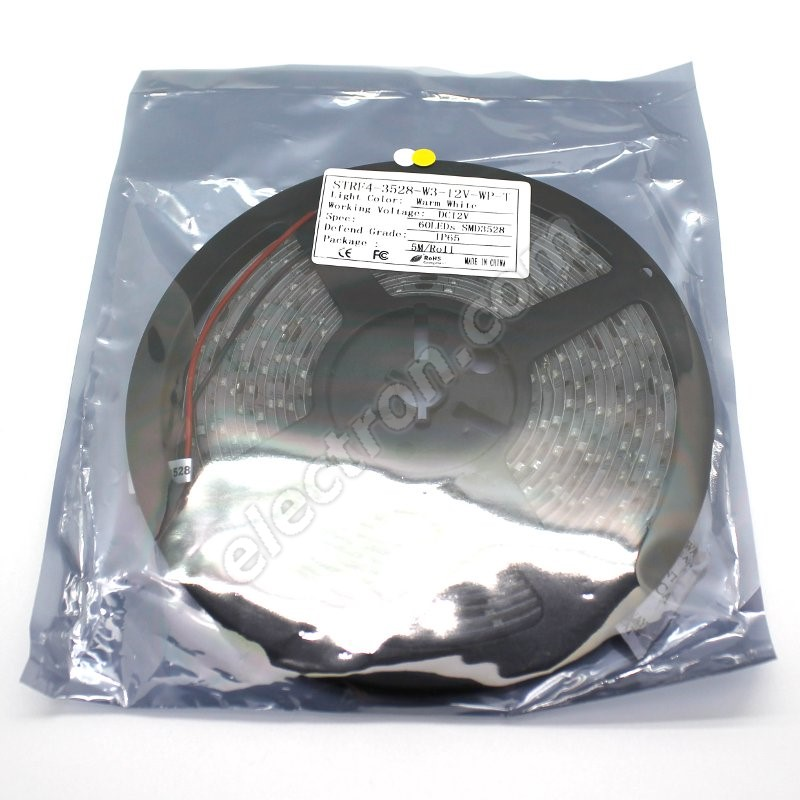 Waterproof LED Strip 3528 WarmWhite - STRF 3528-60-WW-IP65 - 1 meter length