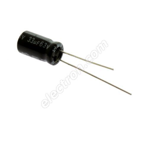 Electrolytic Radial E 33uF/63V 6.3x11 RM2.5 85°C Jamicon SKR330M1JE11M