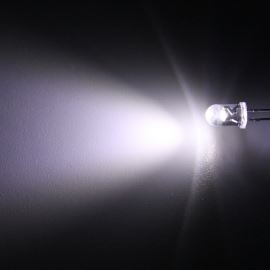 LED 5mm Cool White Color 8000mcd/40° Water Clear Lens Hebei 540PWC