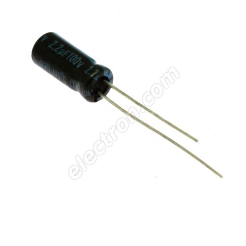 Electrolytic Radial E 2.2uF/100V 5x11 RM2 105°C Jamicon TKR2R2M2AD11M