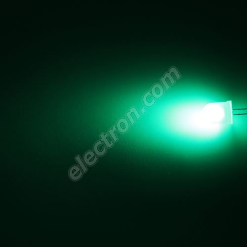 LED 10mm Green Color 3000mcd/50° Diffused Lens Hebei 105XG2D