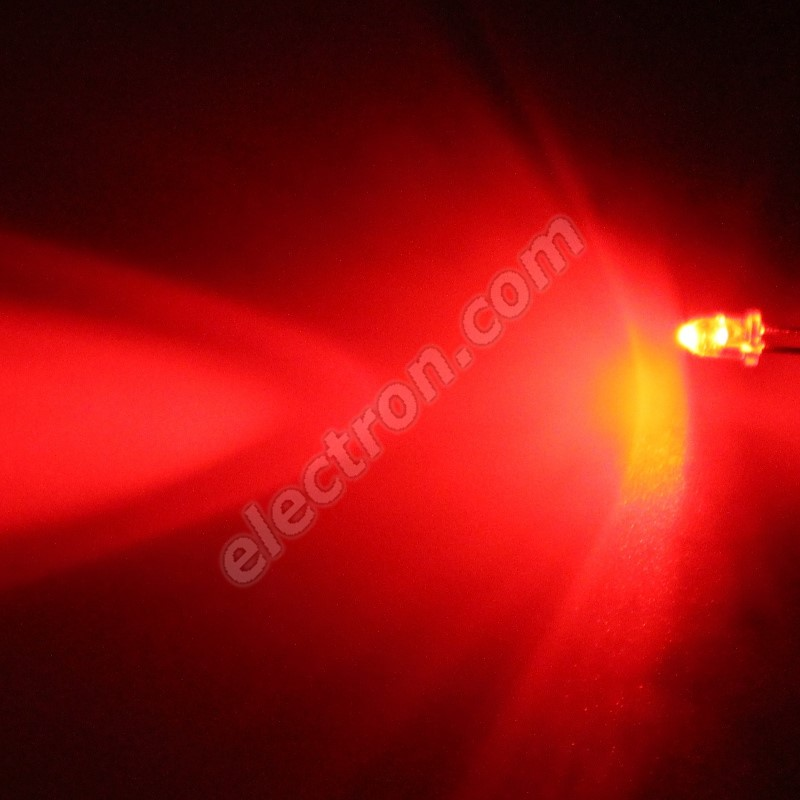 LED 3mm Red Color 2130mcd/30° Water Clear Lens Hebei 330HR3C